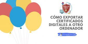 Copiar certificados digitales a un pendrive