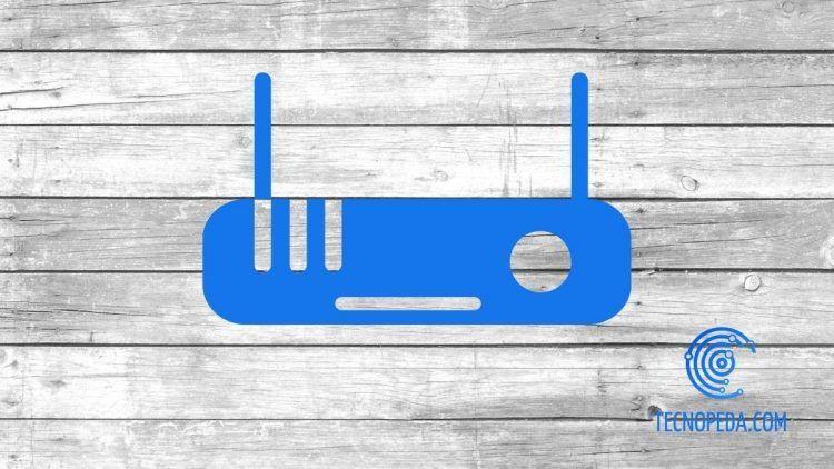 Dibujo azul de un router sobre madera