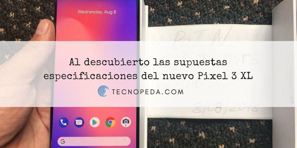 Especificaciones del Pixel 3 XL