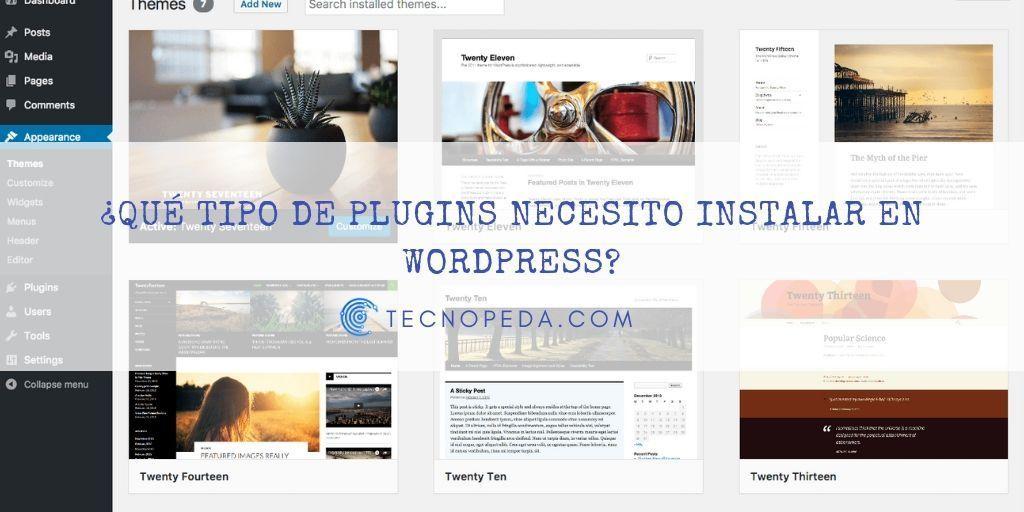 Qué tipo de plugins necesito instalar en Wordpress