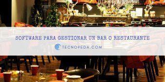 Software para gestionar un bar o restaurante