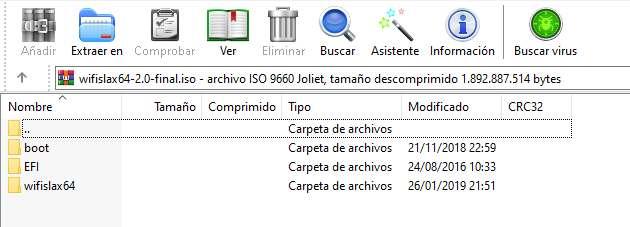 Archivos comprimidos dentro de la ISO de Wifislax