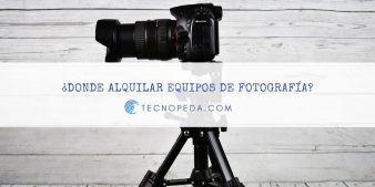 Alquilar equipos de fotografía