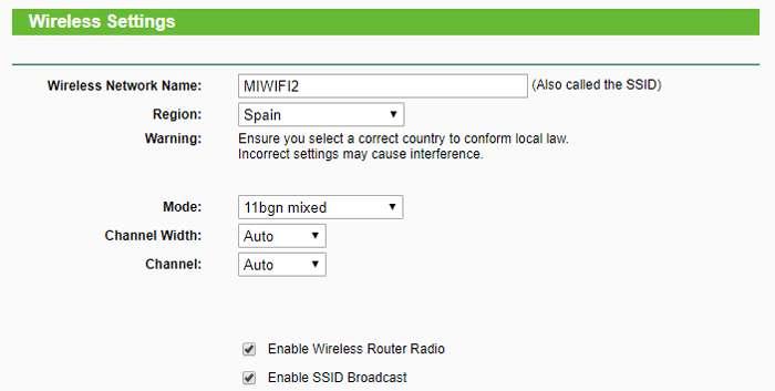 Cambiamos la configuración wireless del router