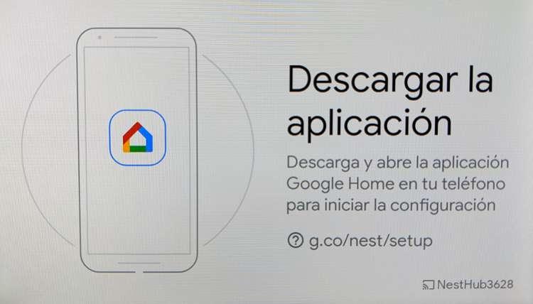 Descargar google home para configurar el google nest hub