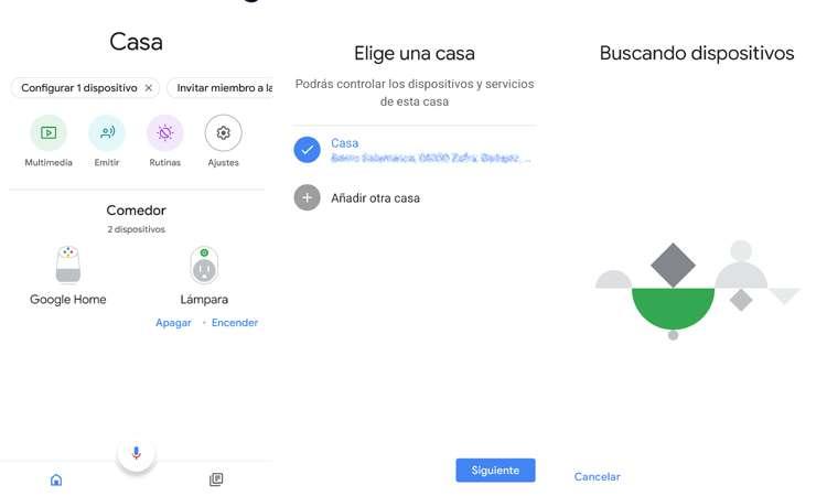 Añadir Nest Hub a la app de Google Home