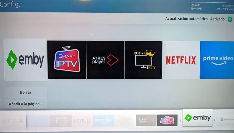 Instalar Emby en una Smart Tv Samsung y añadir acceso directo a Smart Hub