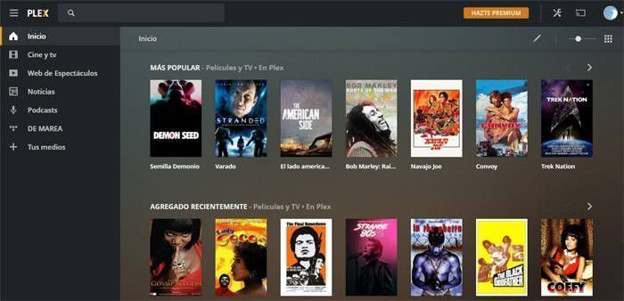 Colección de películas gratuitas en Plex