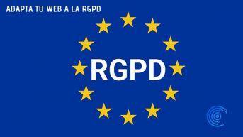 Bandera de la UE adaptada a la RGPD