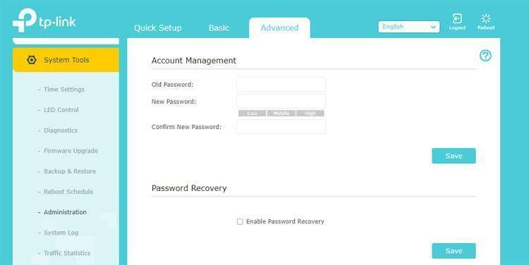 Accede a los ajustes avanzados y cambia la contraseña de acceso al router Tp Link