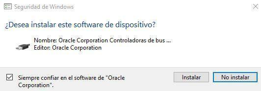 Debes aceptar la instalación del software en tu dispositivo