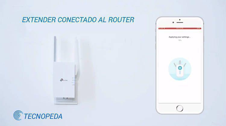 Imagen que muestra el tp link extender conectado a un router