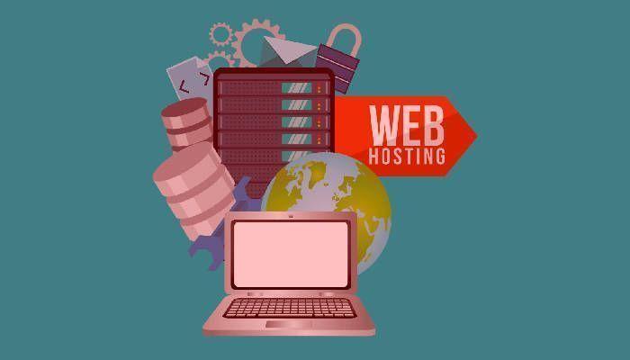Infografía que representa un hosting web para almacenar páginas