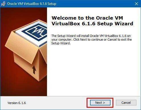 Primer paso para instalar VirtualBox y crear una máquina virtual en Windows 10