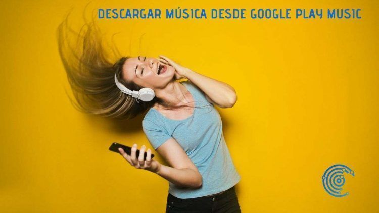 Mujer con auriculares puesto y bailando