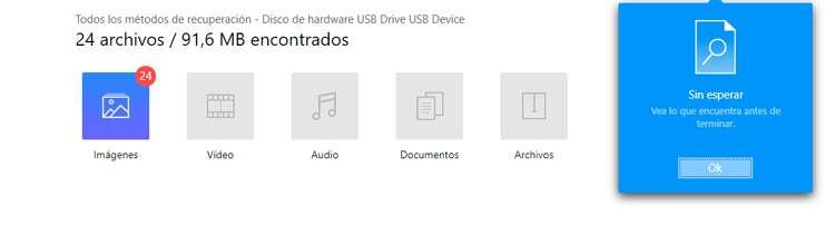 El software recupera los archivos borrados de la tarjeta SD