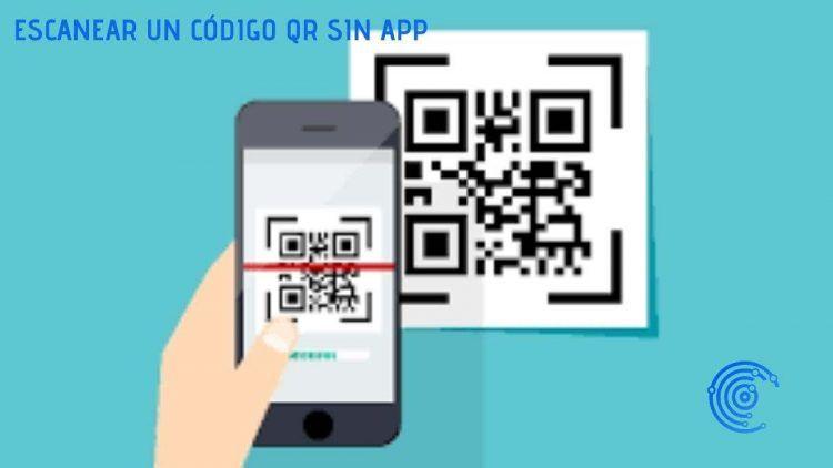 Dibujo de un móvil escaneando un código QR