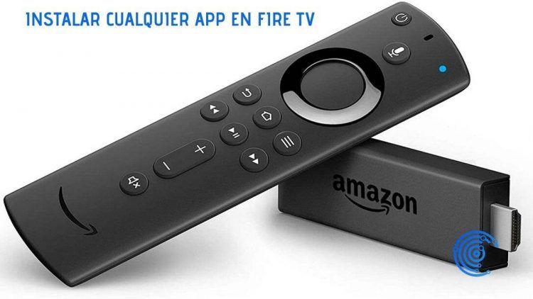 Un Amazon Fire Tv Stick junto con su mando a distancia