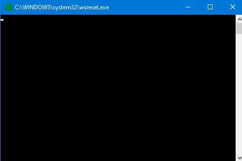 resetear la tienda de aplicaciones de Windows para limpiar toda la caché de Windows 10