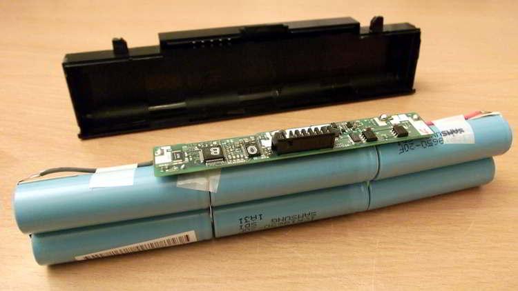 Batería de celdas de un portátil