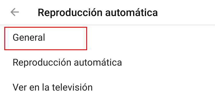 Opciones generaqles de youtube