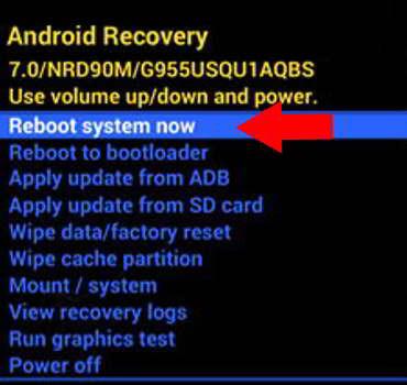 Reiniciar móvil