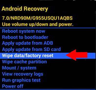 Opciones del Recovery en un Doogee S90