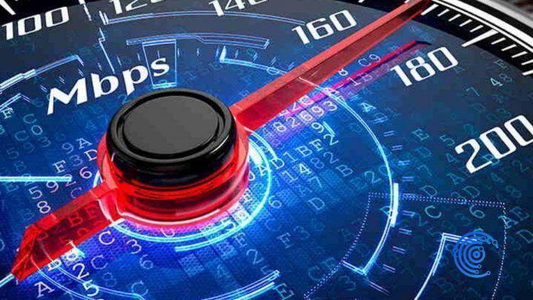 Gráfica que muestra la velodicad de bajada de internet