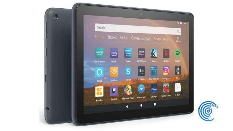 Imagen de una tablet Amazon Fire sobre fondo blanco