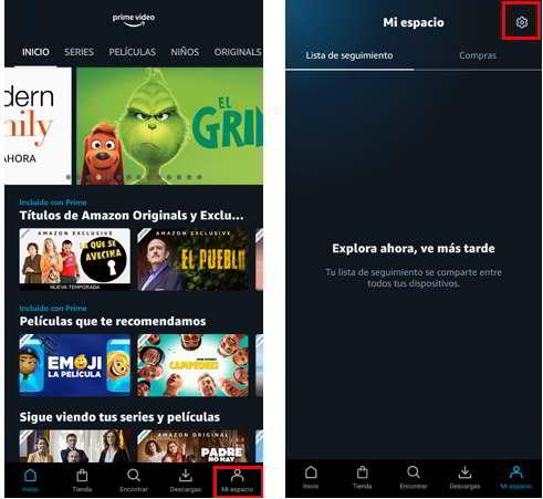 Añadir cuentas de usuarios en Amazon Prime Video desde la app