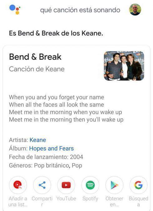 Identificar canciones con Ok Google