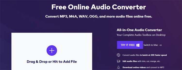 convertir audio a mp3 con media.io