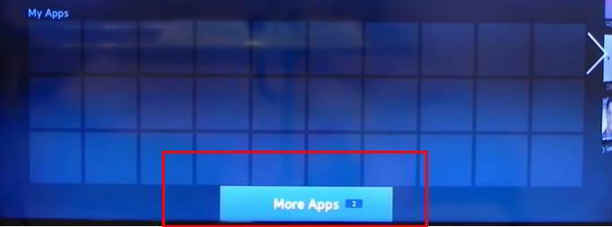 Pulsa sobre More Apps