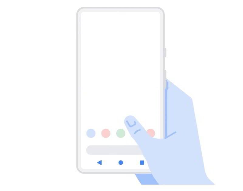 Navegación por gestos en Android 11