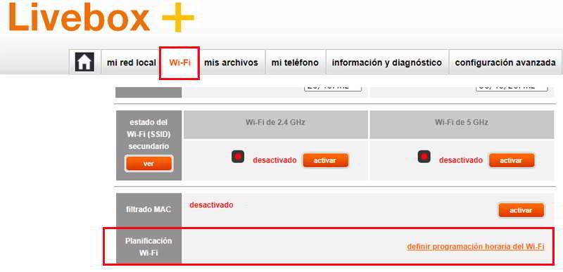 Configurar el control parental en un router Livebox+