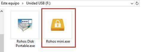 Rohos Mini Drive Portable para encriptar una memoria USB con contraseña