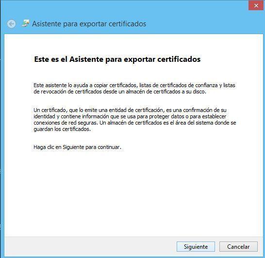 Asistente para instalar certificados digitales