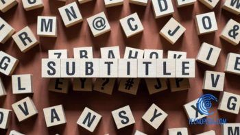 Palabra Subtittles formada por cubos de letras